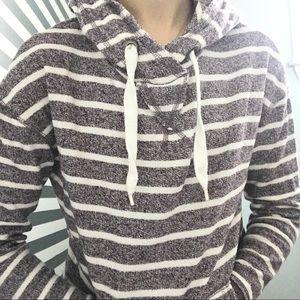 Grey striped garage sweater